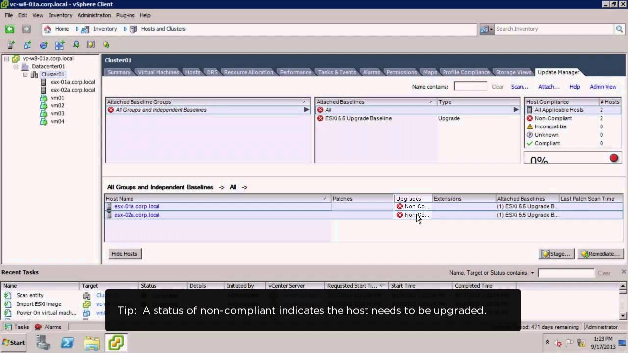 Upgrading a vSphere Host Using vSphere Update Manager (vSOM)