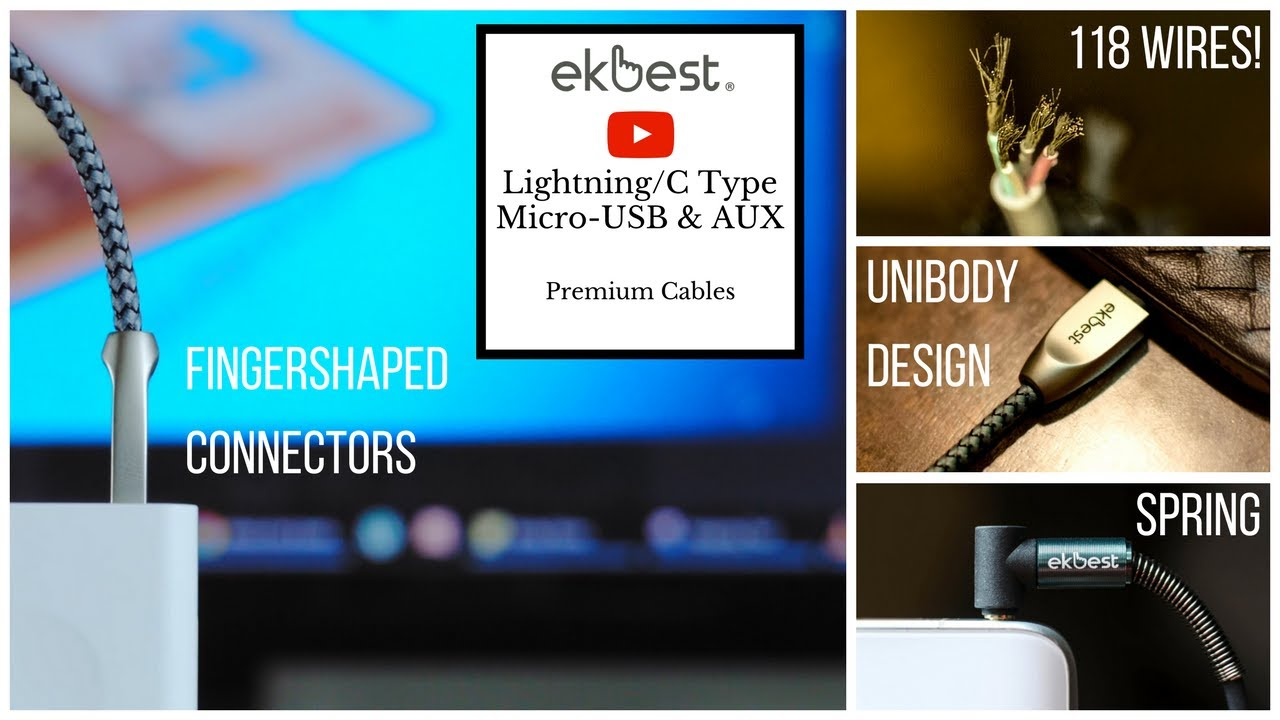 Ekbest Cables || The World\'s Fastest, Most Durable Lightning /C Type ...