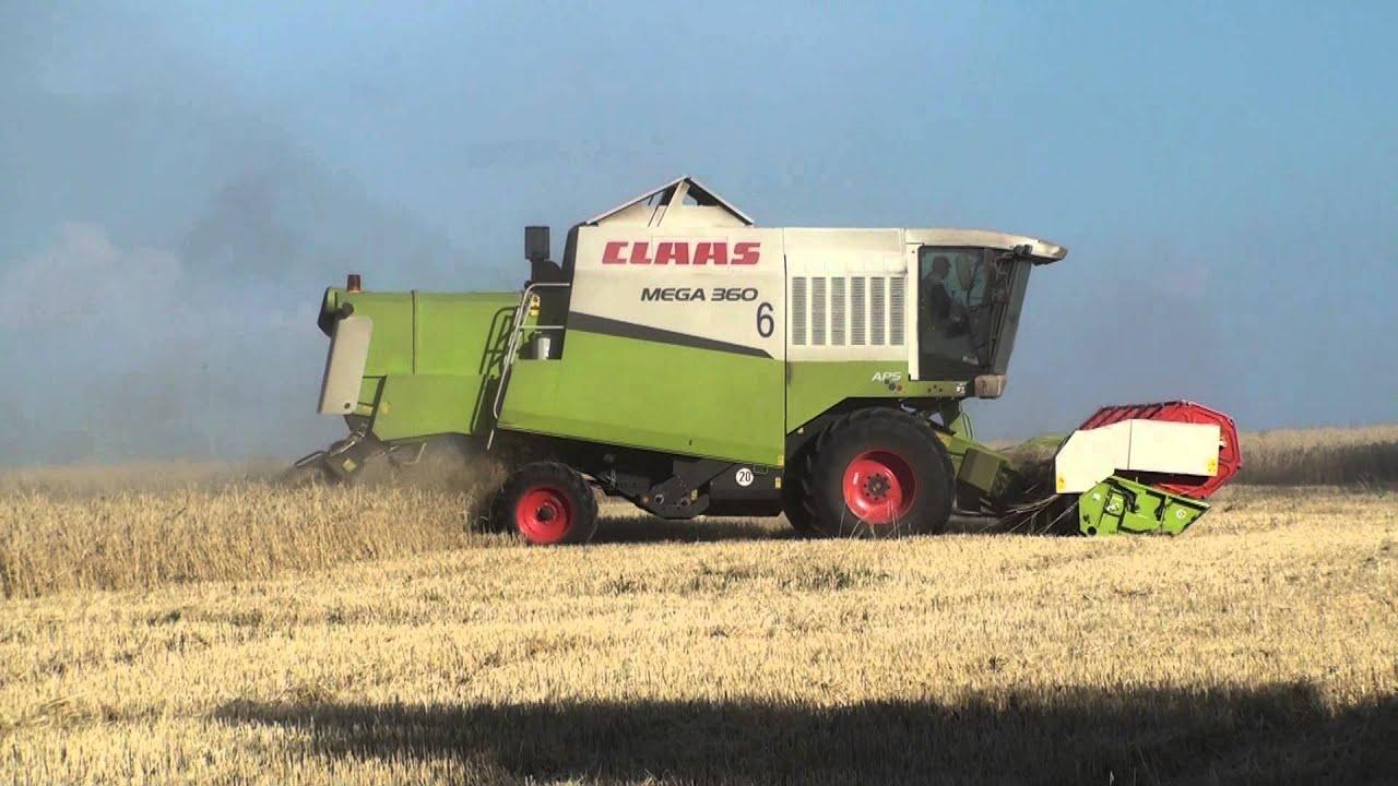 VLOG #!- Т - 150 тягне комбайна CLAAS Mega 208 ☆ T - 150 ciągnie .