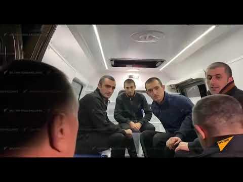 Пятеро армянских пленных из Баку вернулись в Ереван   кадры их встречи