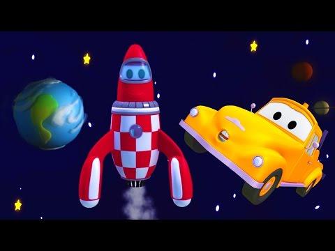 Bärgningsbilen Tom och raketen Rocky i Bilköping | Byggserier om bilar och lastbilar (för barn)