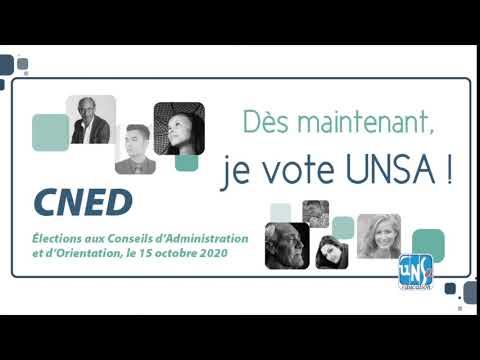 Dès maintenant, je vote et je fais voter UNSA !