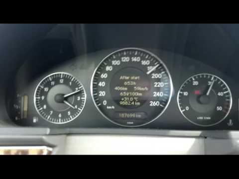 Mercedes w211 270 CDI acceleration in 6th gear