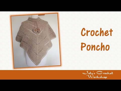 How to Crochet V style Poncho