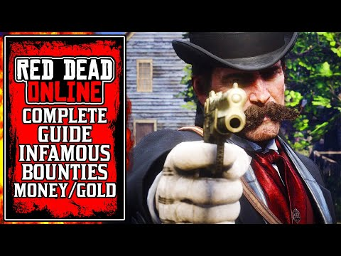 How To Make TONS of MONEY & GOLD FAST With The New INFAMOUS Bounties in Red Dead Online (RDR2)