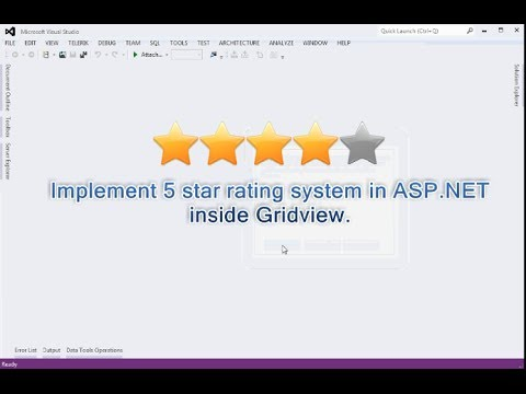 Implement 5 star rating system in ASP.NET  inside Gridview.