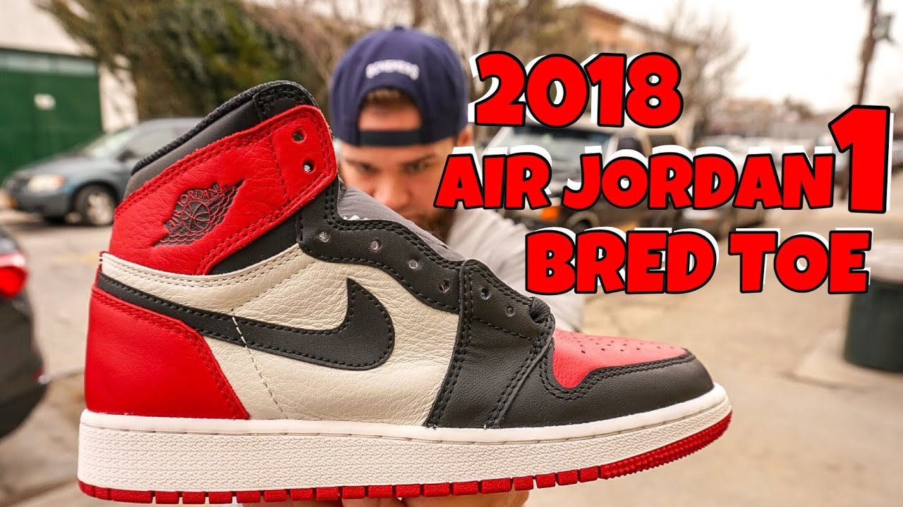 c59877214482 2018 AIR JORDAN 1 BRED TOE (EARLY LOOK) - YouTube