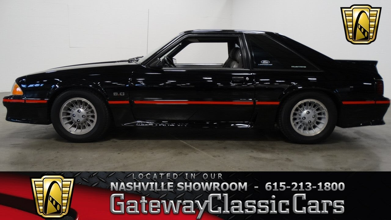 1988 ford mustang gt foxbodygateway classic cars nashville422 youtube