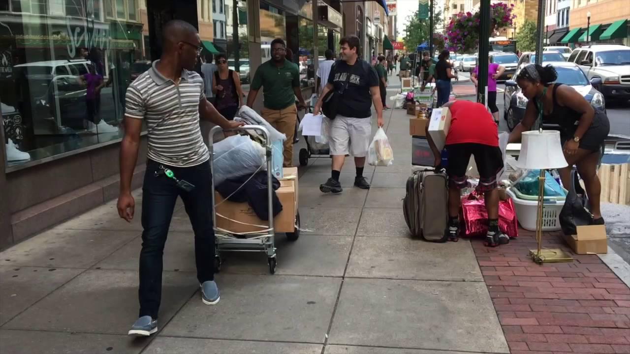 Harrisburg University students arrive for classes