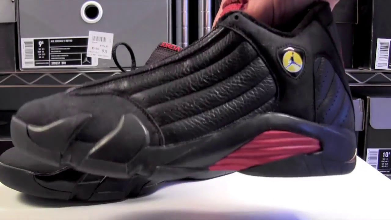 9056adfaca2a Air Jordan 14 (XIV) 2011 Last Shot (Black Red) - YouTube