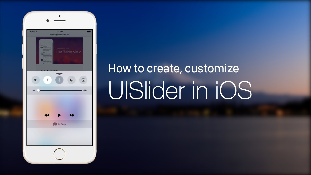 iOS Development Tutorial - UIControl Series: How to Create and Customize a  Slider with UISlider
