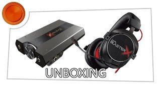 Sound BlasterX G6 & H7 Tournament Edition Headset unboxing