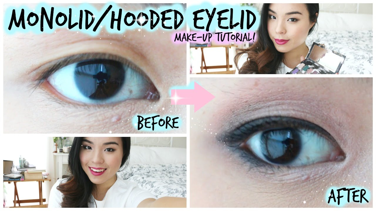 Monolid or hooded eyelid makeup tutorial for asian eyes youtube baditri Choice Image