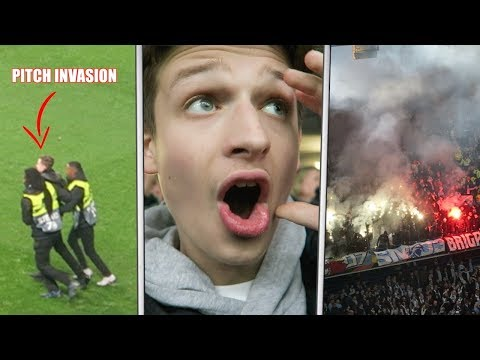 MALMÖ FANS FIGHT EACH OTHER + PITCH INVASION! | Chelsea vs Malmo FF