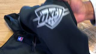 "Unboxing Nike Therma Flex Oklahoma City Thunder Hoodie ""Black"" 2017 2018"