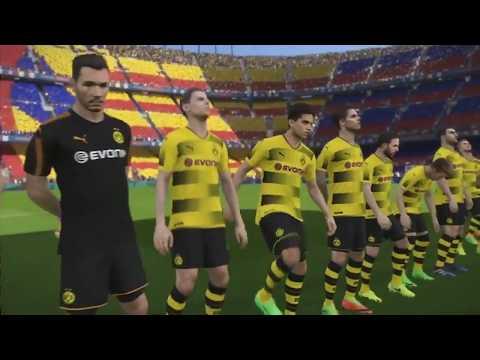 PES 2018 Gameplay - BARCELONA vs BORUSSIA DORTMUND (PS4/XboxOne/PC) E3 2017!