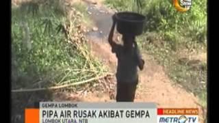 Korban Gempa Lombok Krisis Air Bersih | BeritaTvIndo