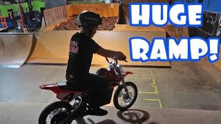 DIRTBIKE DOWN HUGE RAMP!