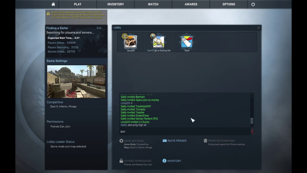 cs go matchmaking config 2014