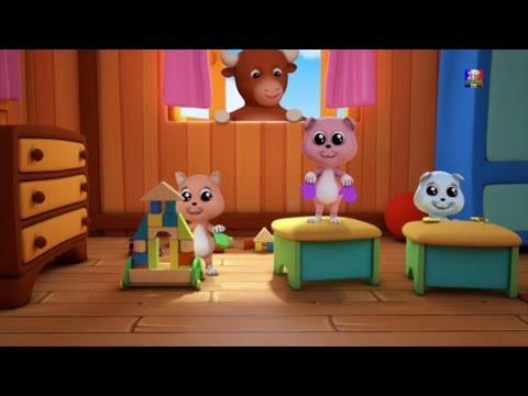 trois petits chatons 3d comptines pour les enfants enfants musique three little kittens. Black Bedroom Furniture Sets. Home Design Ideas