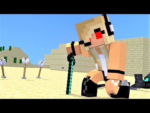 "NEW MINECRAFT SONG: Hacker 4 1 Hour  ""Hacker VS Psycho Girl"" Minecraft Songs and Minecraft Animation"