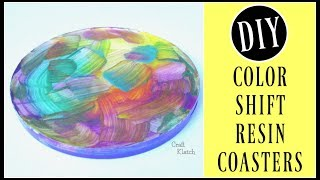 Color Shift Paint Resin Coasters | Another Coaster Friday | Craft Klatch
