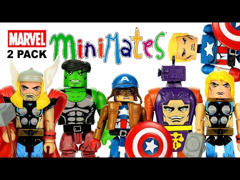 Marvel Minimates Captain America Civil War & Arnim Zola + Hulk & Thor 2-Packs Unboxing