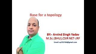 Base for a topology, topological spaces, Lecture-1, Definition and example