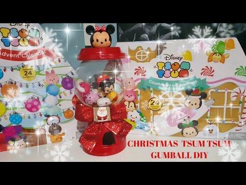 DIY TSUM TSUM GUMBALL MACHINE - CUTE CHRISTMAS GIFT IDEA - SUPER EASY