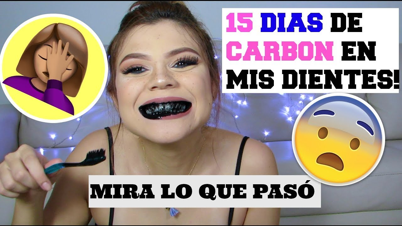 como blanquear los dientes con carbon vegetal
