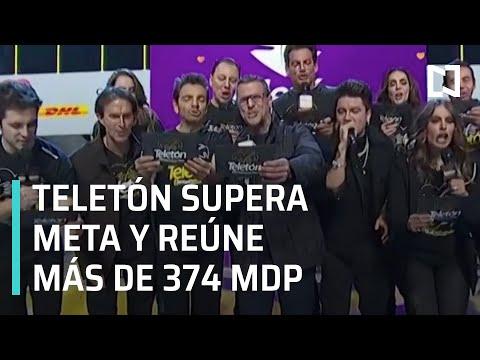 Teletón supera la meta y recauda más de 374 millones de pesos - Las Noticias