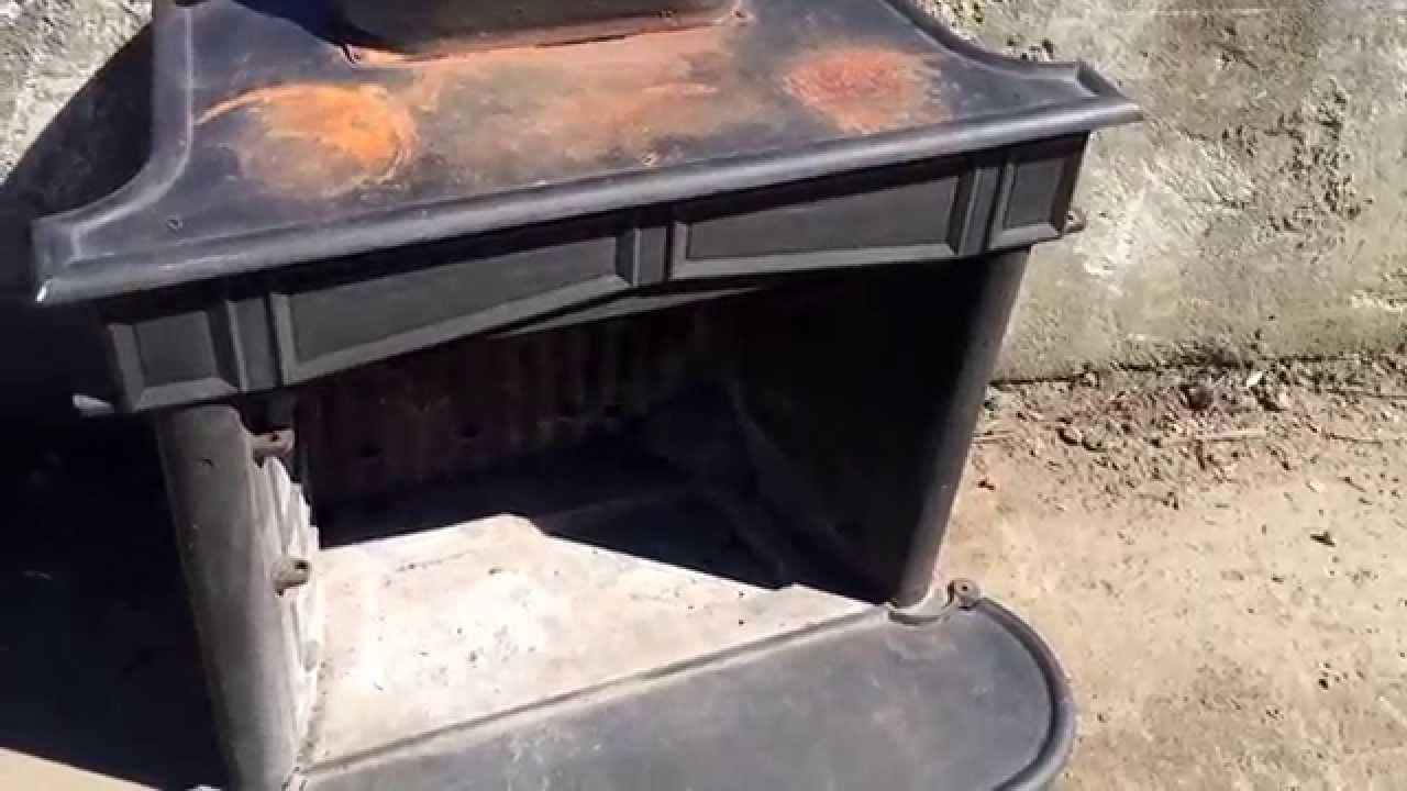 Franklin Stove Disassemble Remove Parts