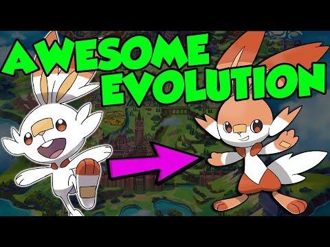 New Pokemon Gen 8 Starter Pokemon Evolutions Youtube
