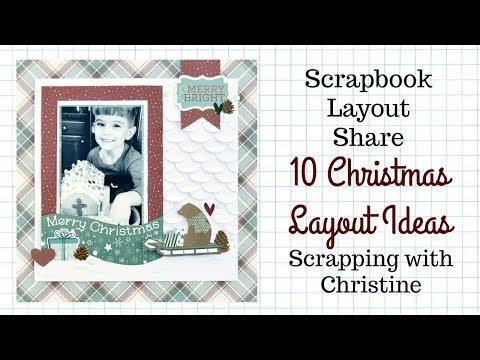 10 Christmas Scrapbook Layout Ideas