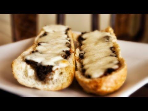 Grilled Mushroom Baguette – Zapiekanka – Ania's Polish Food Recipe #20