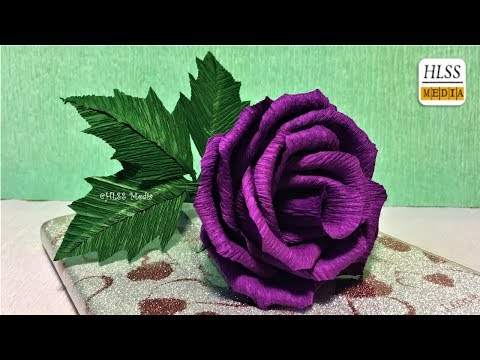 Super easy way to make purple rose paper flower diy rose crepe super easy way to make purple rose paper flower diy rose crepe paper flower making tutorials mightylinksfo