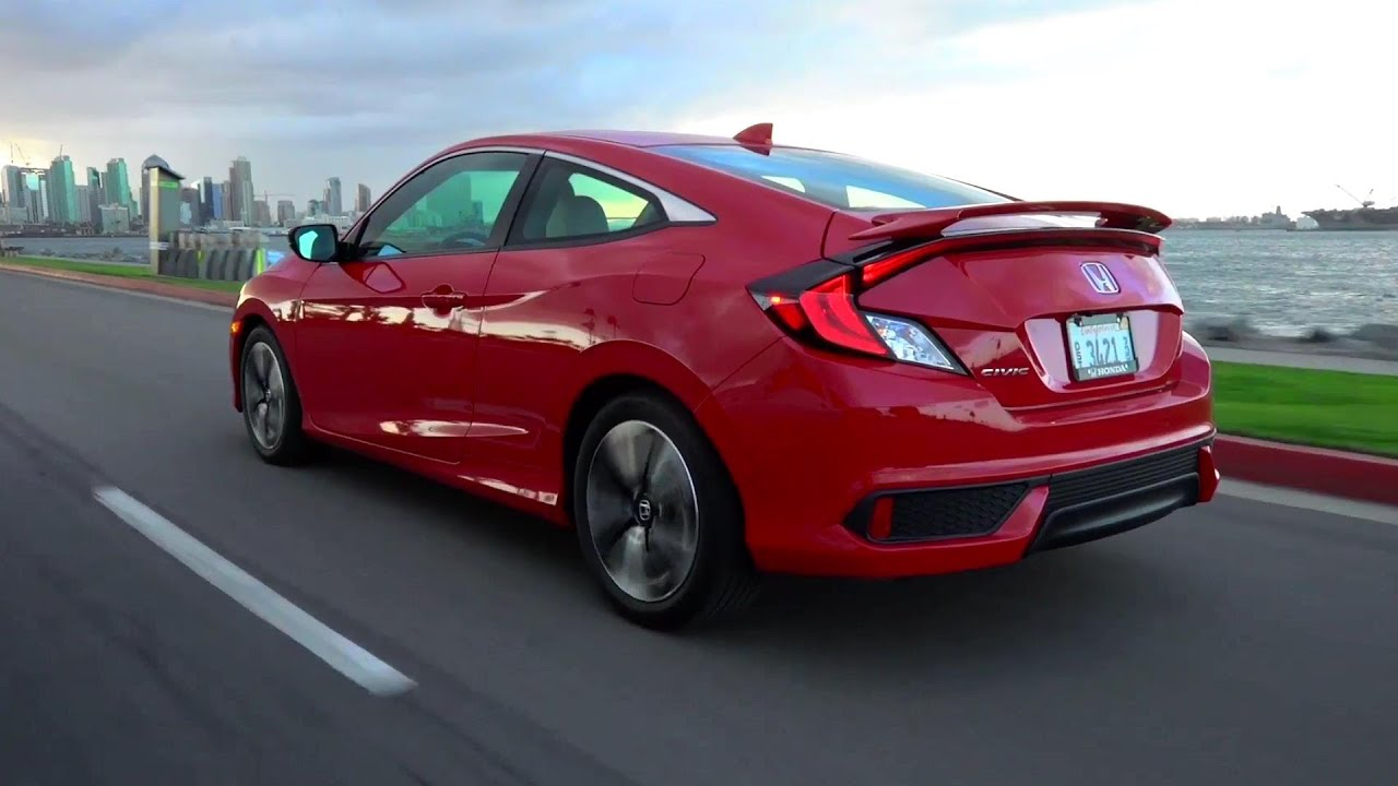 2016 Honda Civic Coupe In Red Test Drive