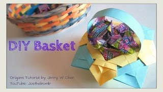 Diy Easter Basket - How To Fold Origami Basket - Summer Crafts - Paper Crafts Kids