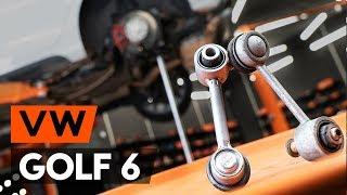 aizmugurē un priekšā Savienotājstienis uzstādīšana VW GOLF VI (5K1): bezmaksas video