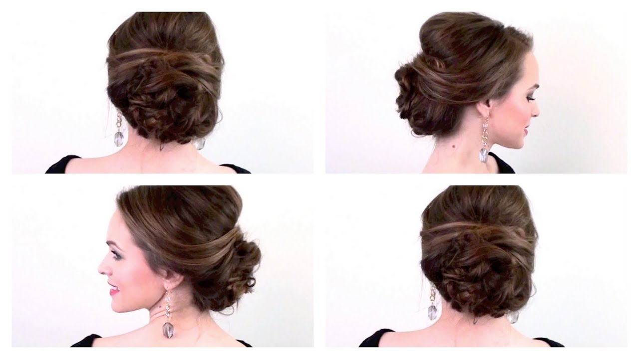5 Minute Party Updo Youtube