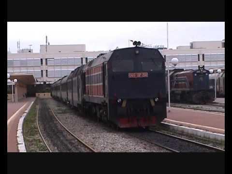 Tunisia - SNCFT 060-DP-150 departs Tunis Ville with 15:10 Tunis - Gardimaou
