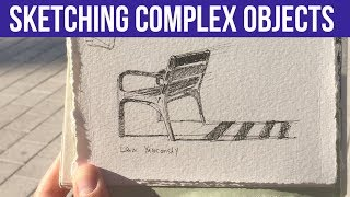 How to Accurately Draw Detailed Complex Objects - Bench