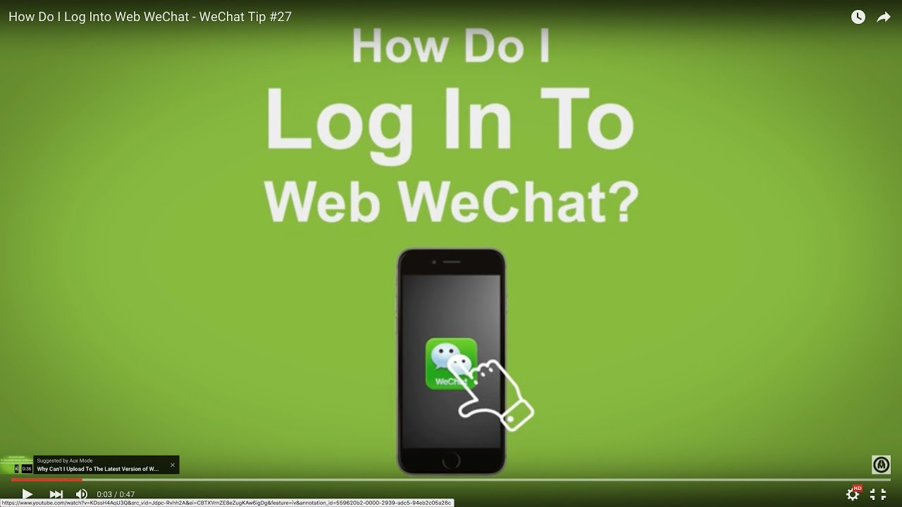 Web wechat youtube