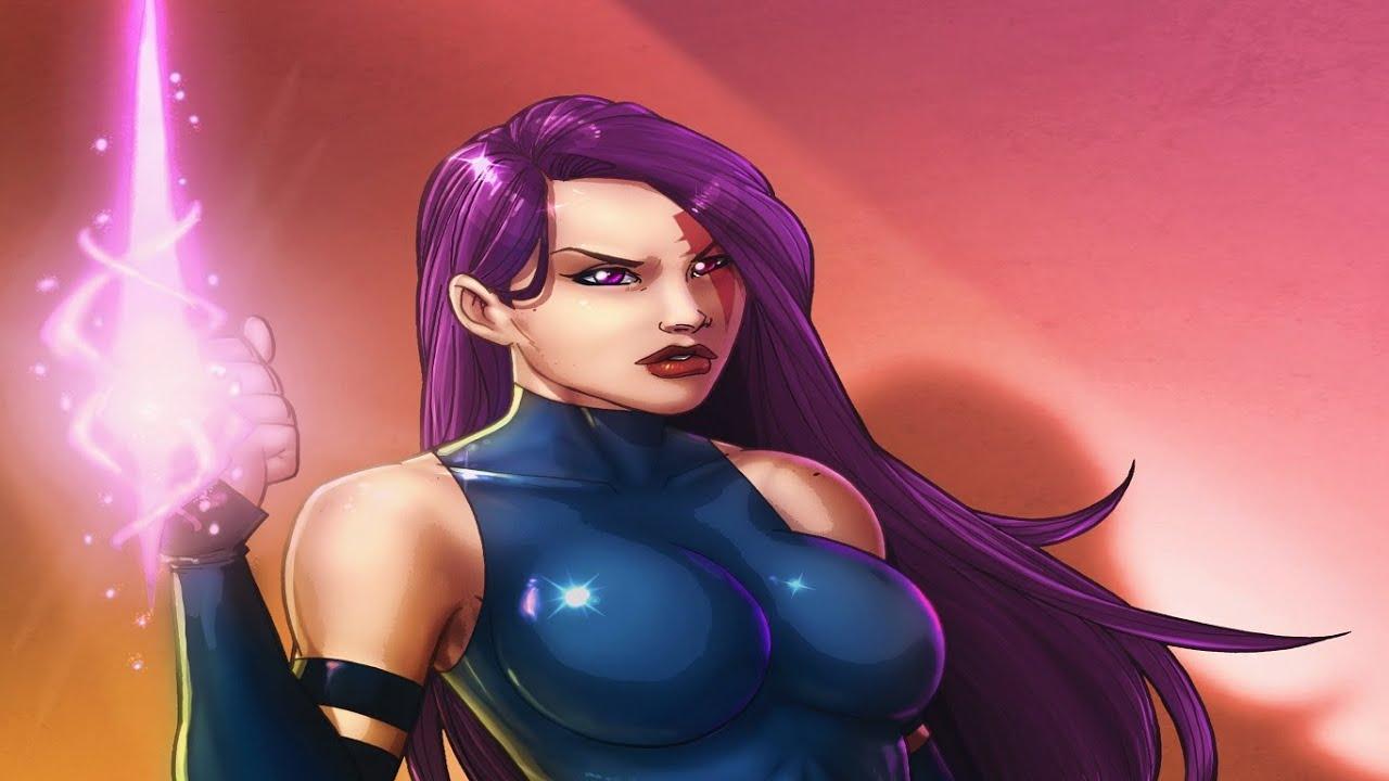 Marvel super heroes psylocke arcade youtube - Super heros fille marvel ...