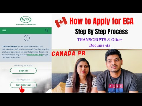 How To Apply For ECA - Education Credential Assessment | WES Canada | Express Entry (2020)