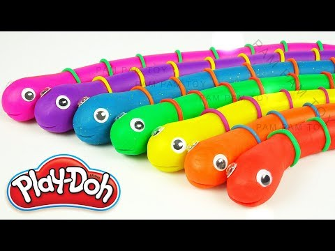 Learn Colors and Number Play Doh Snake Molding Clay Surprise Toys for Kids