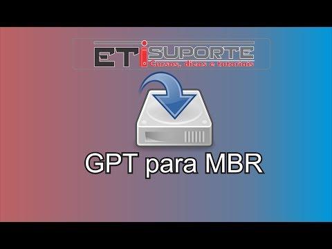 Convertendo partição GPT para MBR sem Formatar o HD
