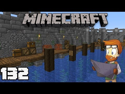 Building with fWhip : HARBOR WALLS #132 MINECRAFT Let's Play
