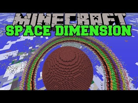 Thumbnail: Minecraft: SPACE DIMENSION (PLANET CREATION, STARS, & CRAZY GRAVITY) Mod Showcase
