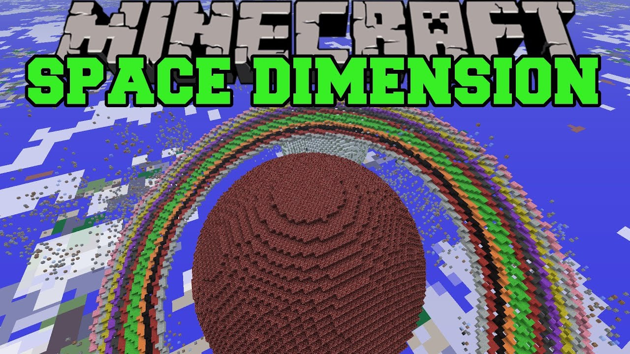 Minecraft: SPACE DIMENSION (PLANET CREATION, STARS ...  Minecraft: SPAC...